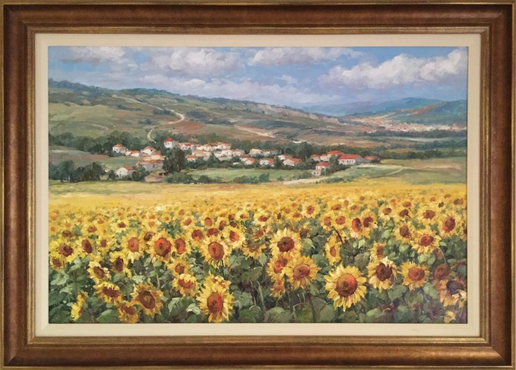 v_sunflowers_custom_framing_richmond_va